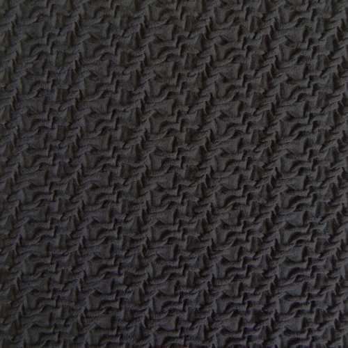 cloqu stoff uni schwarz stoffzentrale ag. Black Bedroom Furniture Sets. Home Design Ideas