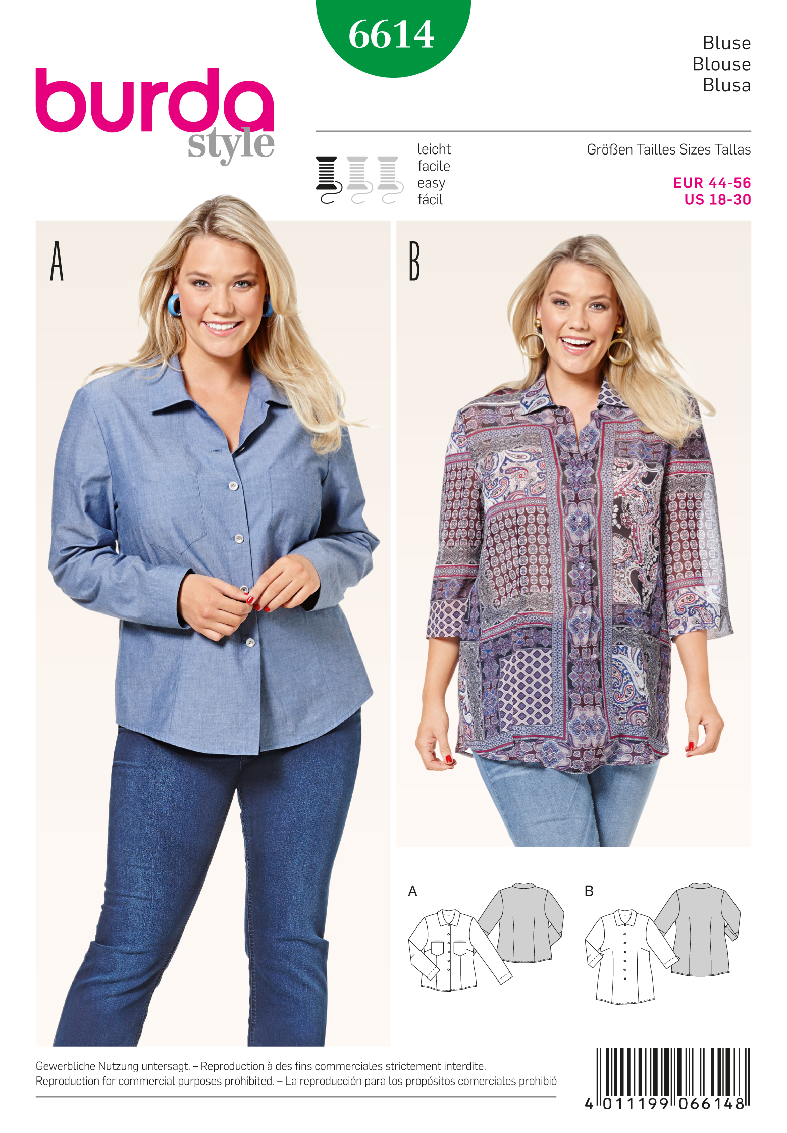 Schnittmuster Bluse – Stoffzentrale AG