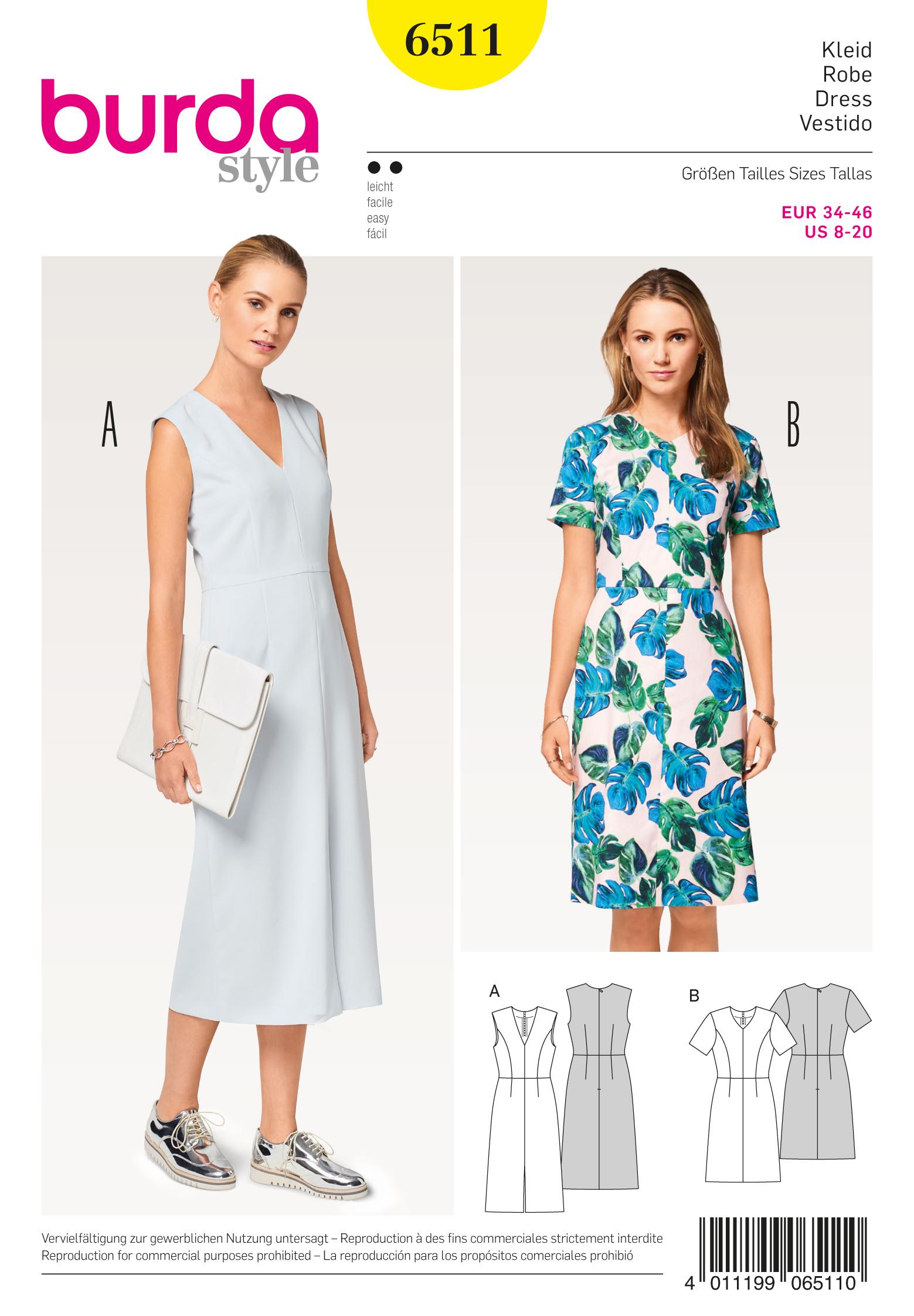 Schnittmuster Kleid, V-Ausschnitt – Stoffzentrale AG