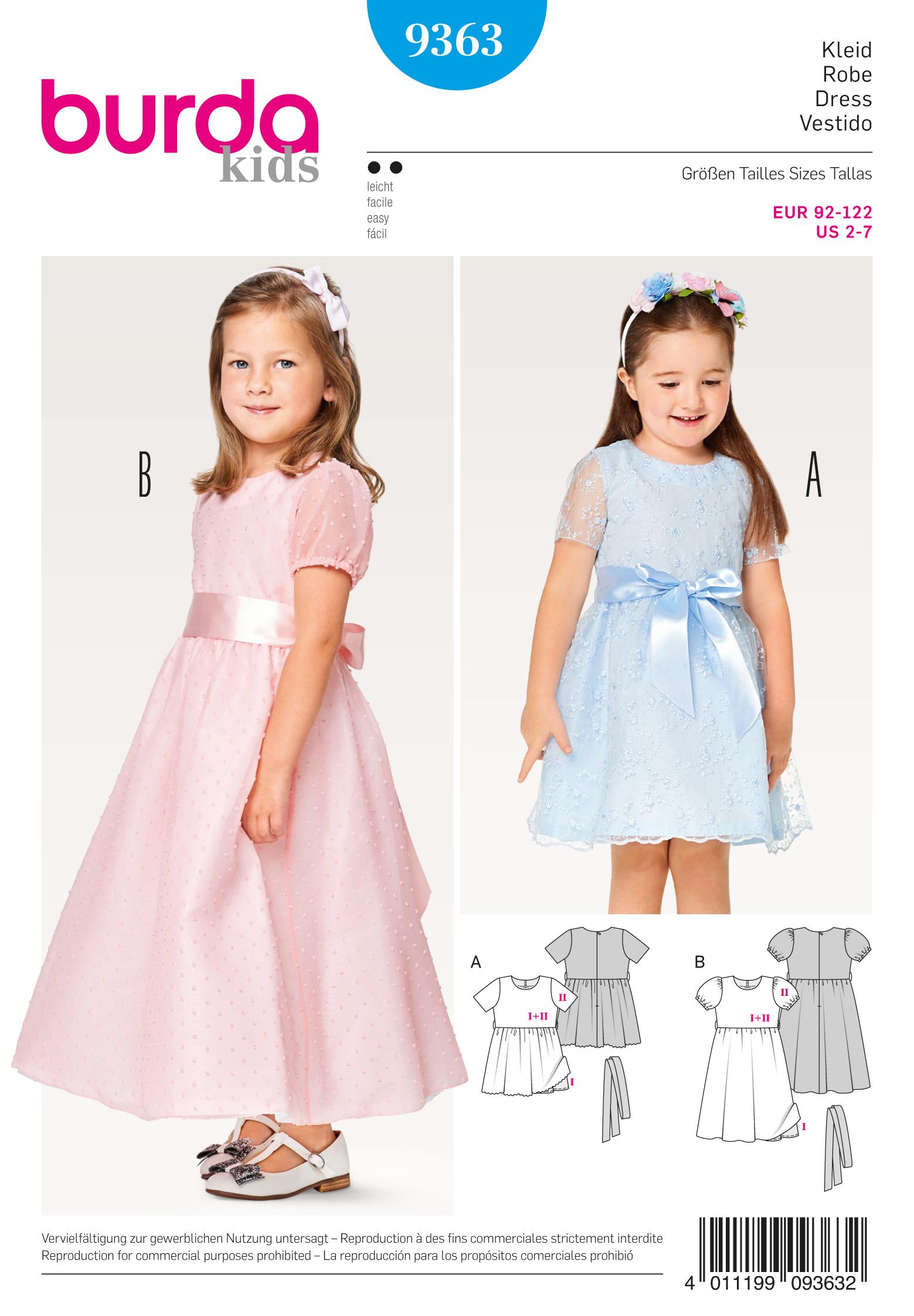 Schnittmuster Kleid, festlich Puffärmel – Stoffzentrale AG